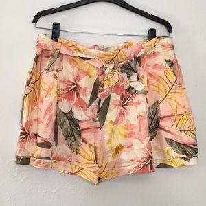 NWT Joie Jaklynn dusty nude linen shorts 12